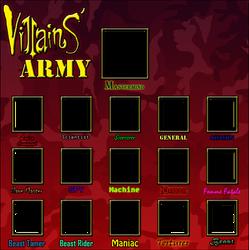 Villains' Army Meme - Blank Template