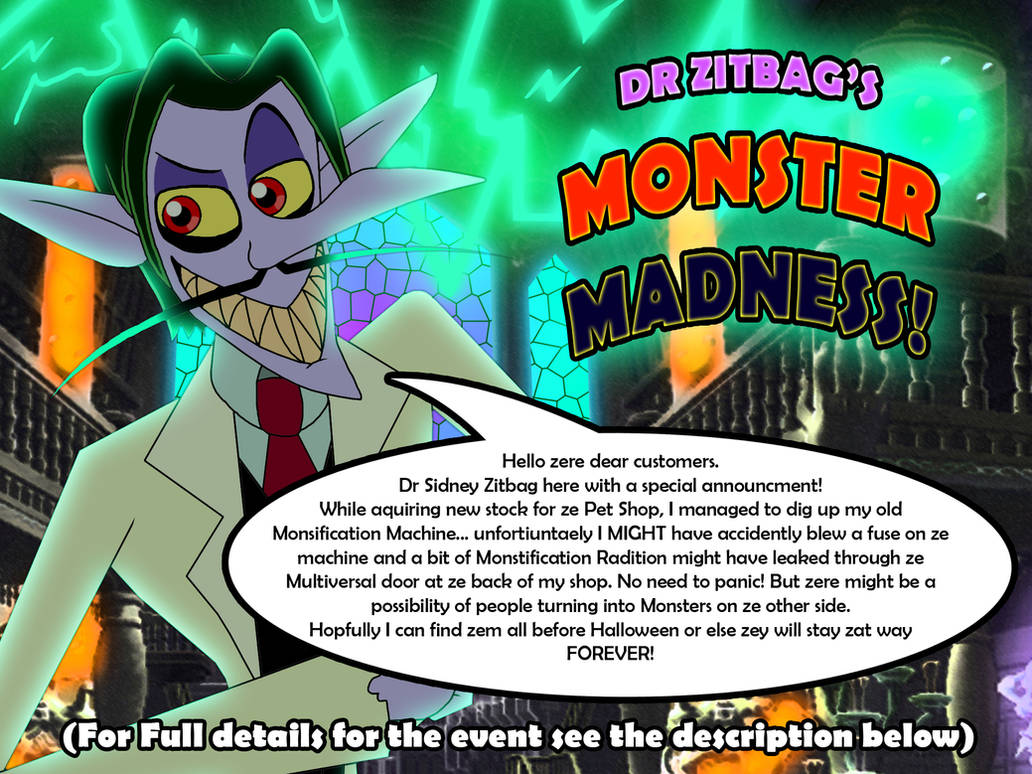 Dr Zitbag's Monster Madness - Halloween Event 2021