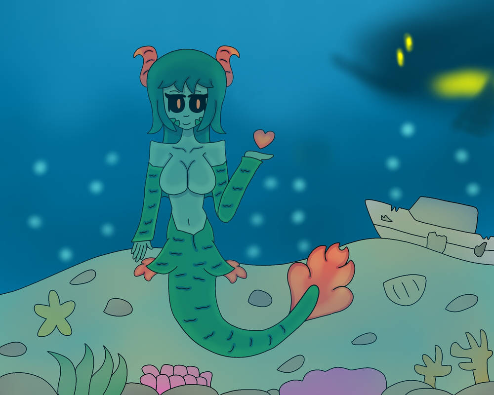 The Siren and sea/terraria calamity mod by petch4thtv on