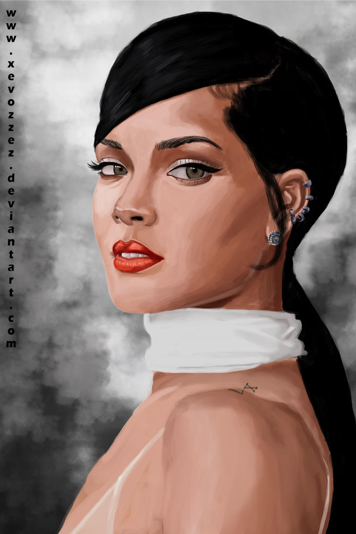 Rihanna. by xevozzez
