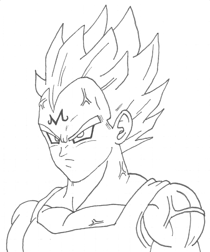 Majin Vegeta by OsoroshiiYasai on DeviantArt