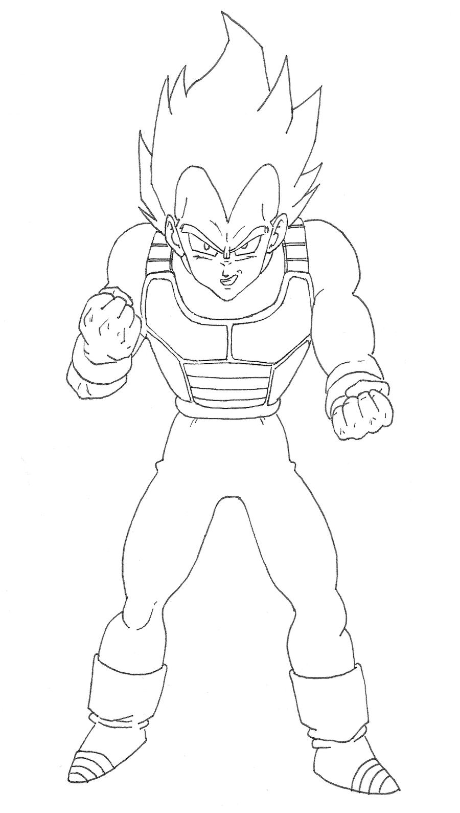 super sayan 3 goku para colorear dibujos imagixsVegeta Color Drawing