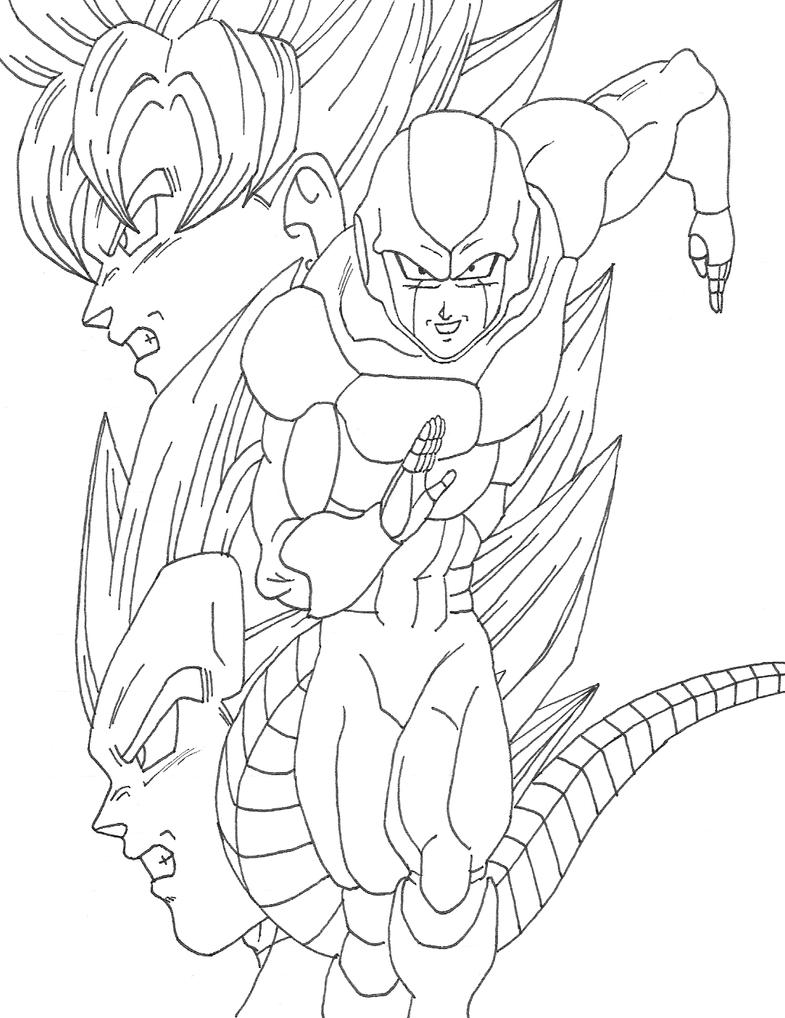 Fein Dragon Ball Z Goku Gegen Vegeta Malvorlagen Fotos ...