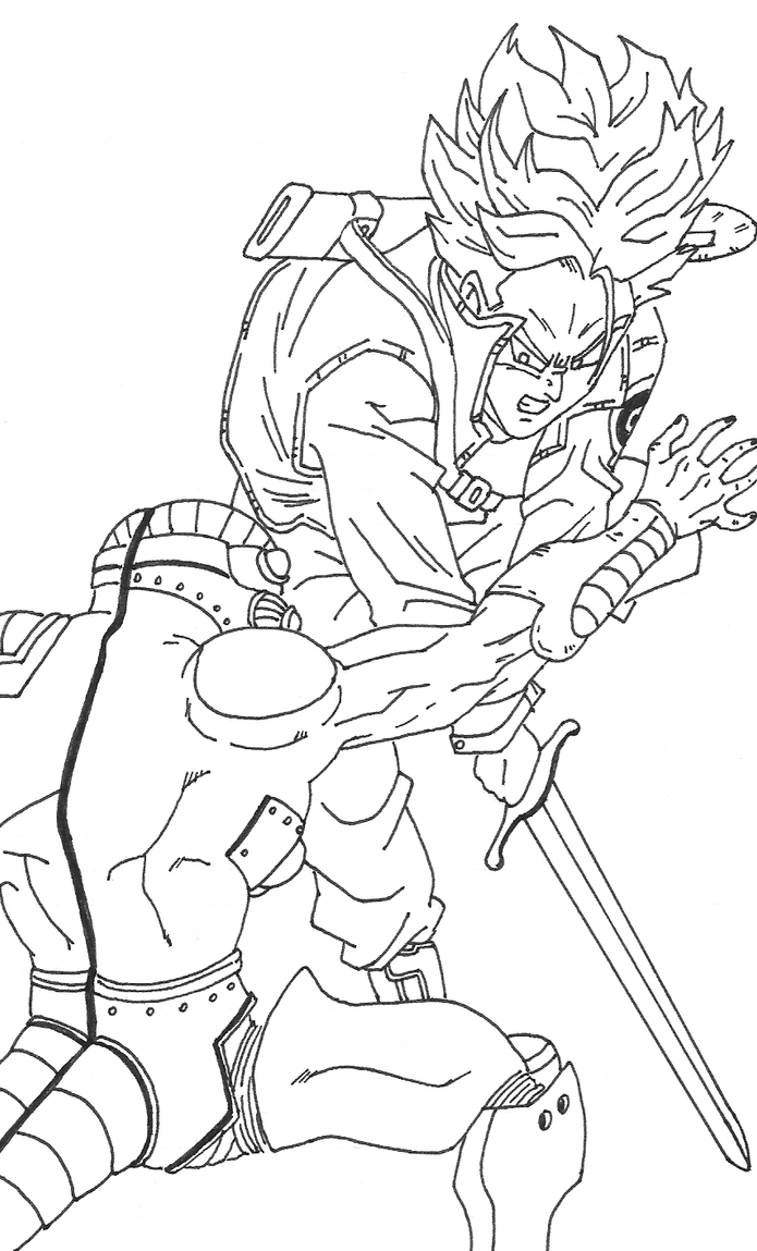 Frieza Ssgss Goku Coloring Pages