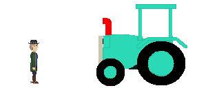 Hosea Matthews Meets Travis the Tractor
