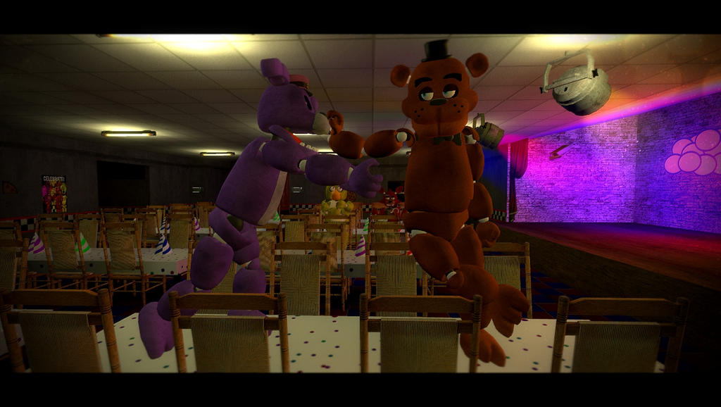 Freddy vs bonnie by crazybot1231 on deviantart