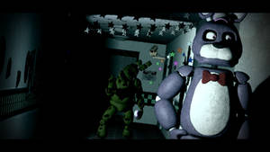 springtrap walking down the hallway by crazybot1231