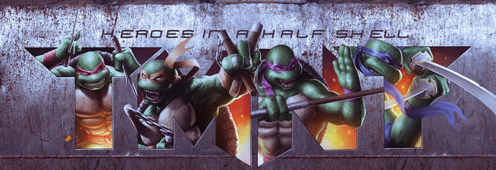 Heroes in a half shell color by valiantonov