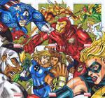 Marvel Universe Sketch Cards Civil War Puzzle