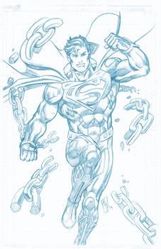 New52 Superman pencil