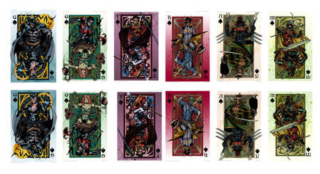 GOTHAM Royal Flush Card Set Print