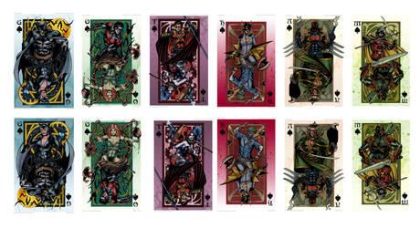 GOTHAM Royal Flush Card Set Print by valiantonov
