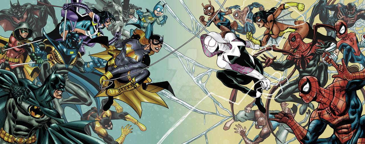Bat-verse vs Spider-verse by valiantonov
