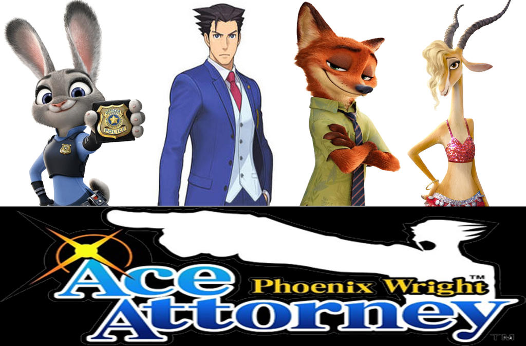 phoenix wright ace attorney zootopia defense by