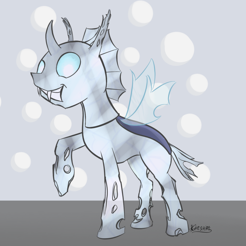 Crystal changeling by Cheshiresdesires