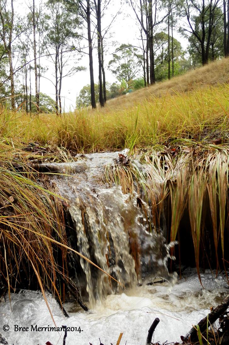 Miniature Waterfall I by BreeSpawn