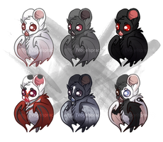 Chibi Bats - Collab with Residual by VogelSprache