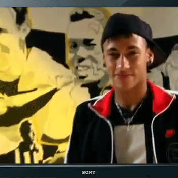 Gif Neymar with TV by cellosia