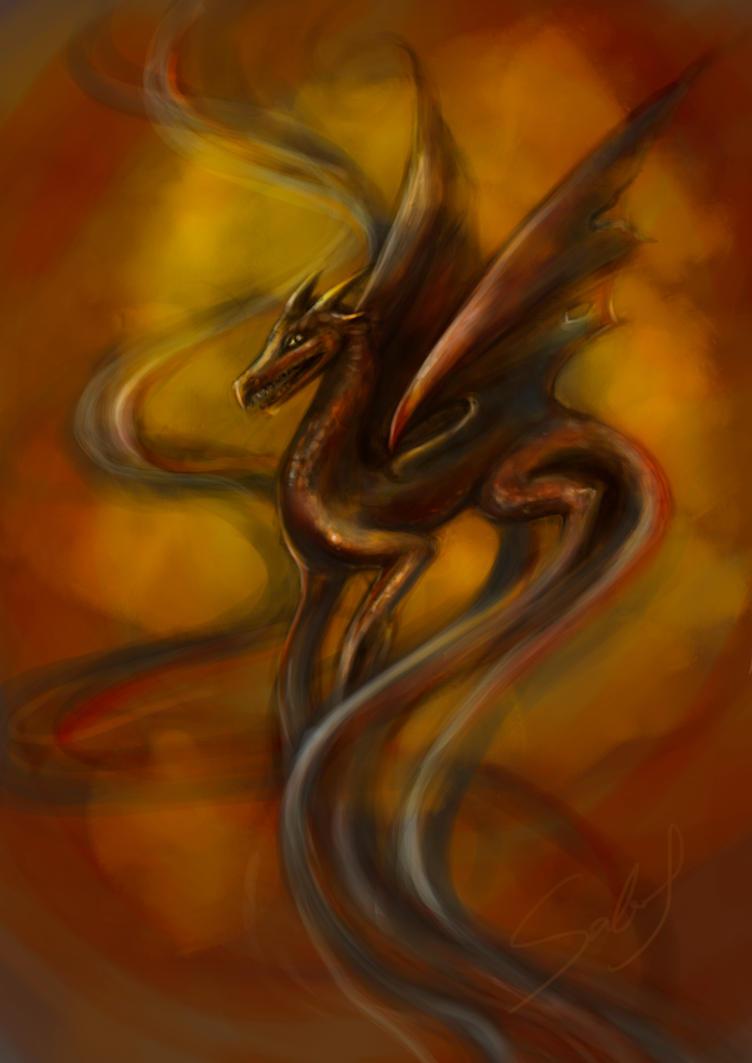 Smokey Dragon by Sabinalibertad