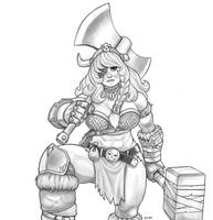 Dwarf Warrior By Mrdemonhell by MrDemonHell