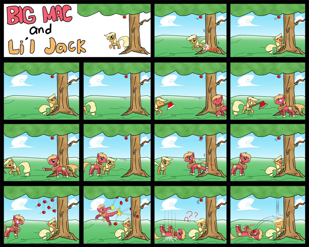 Big Mac and Li'l Applejack by TheWormOuroboros