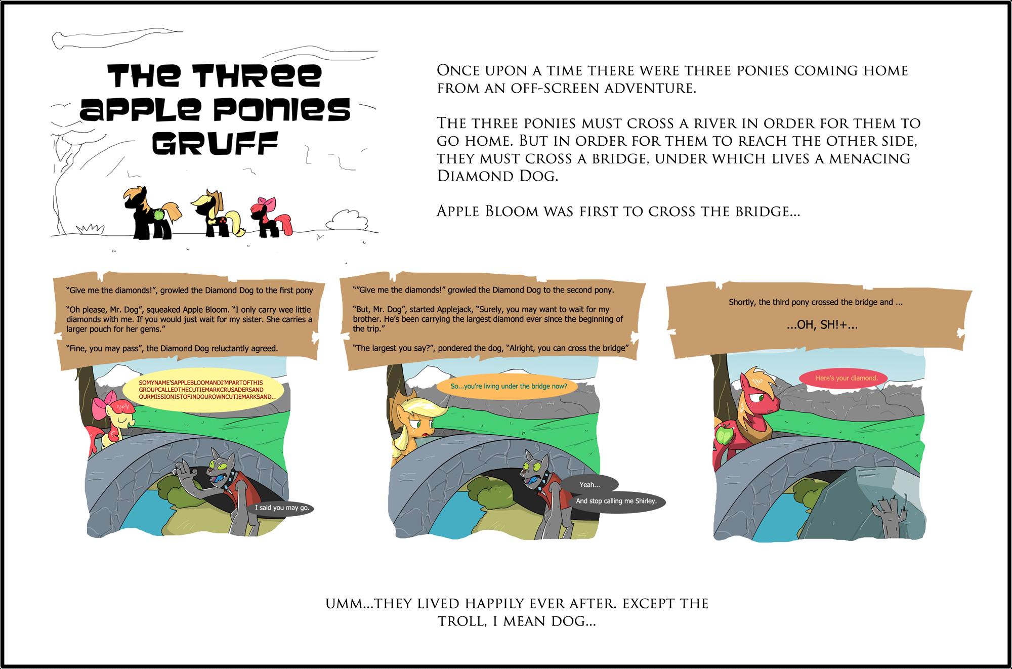 The Three Apple Ponies Gruff by TheWormOuroboros