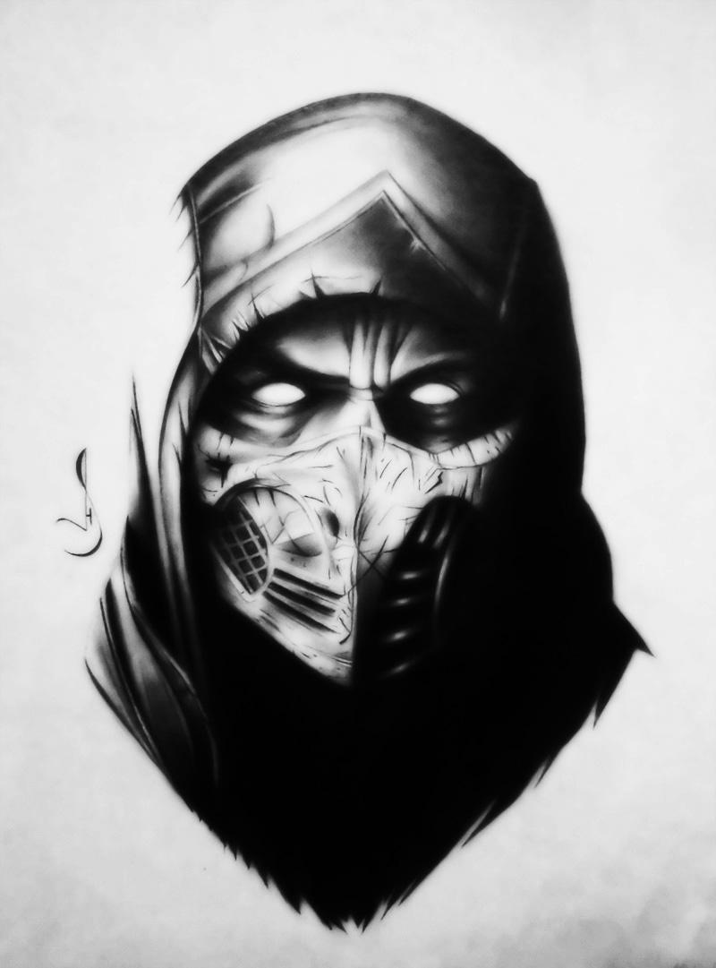 Drawing Scorpions Mortal Kombat By Jhonatan23 On Deviantart
