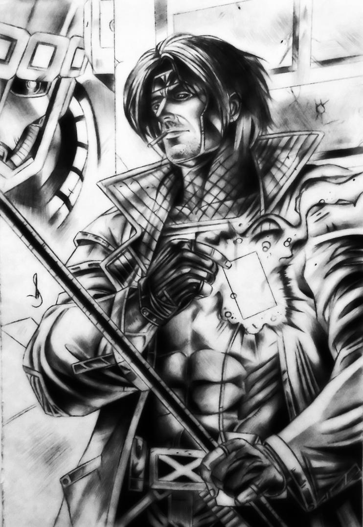 Drawing gambit x men by jhonatan23
