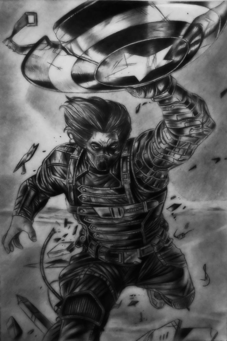 Drawing winter soldier comic by jhonatan23