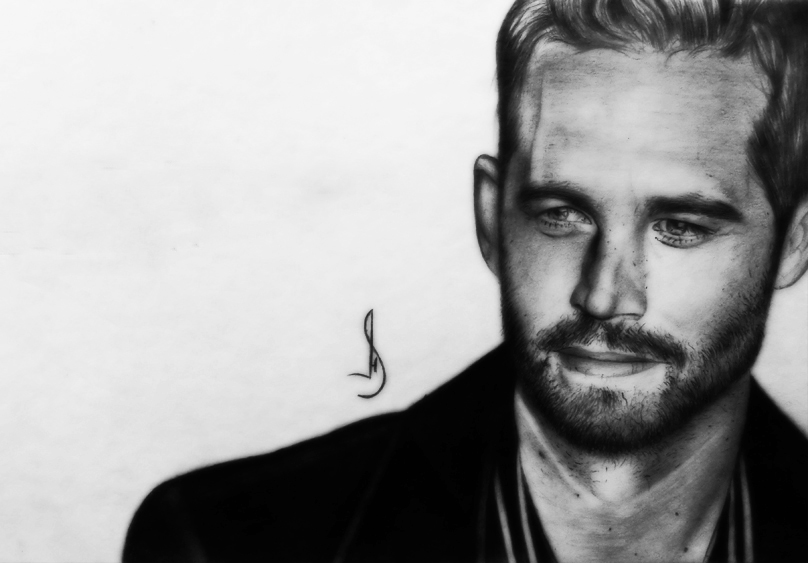 Drawing Paul Walker by jhonatan23