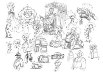 Some sketches. by donsimoni