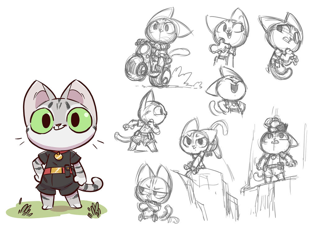 Design Of Cartoon Character : Cat character design by donsimoni on deviantart