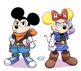 Mickey Minnie X Cyborgs by donsimoni