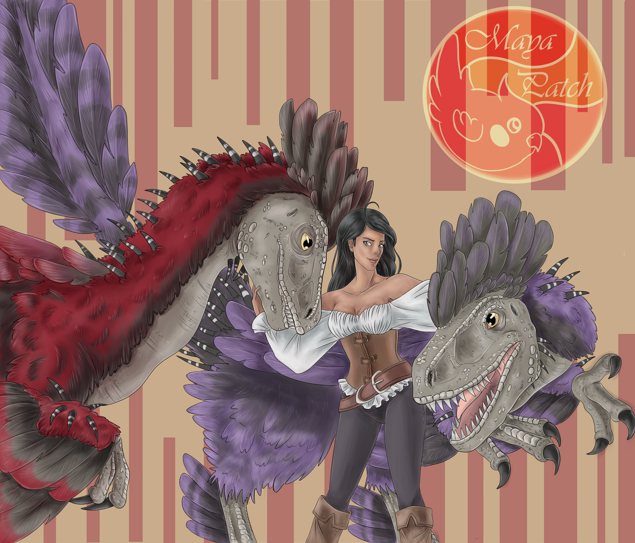 _ark__giselle_and_her_deinonychus_by_may