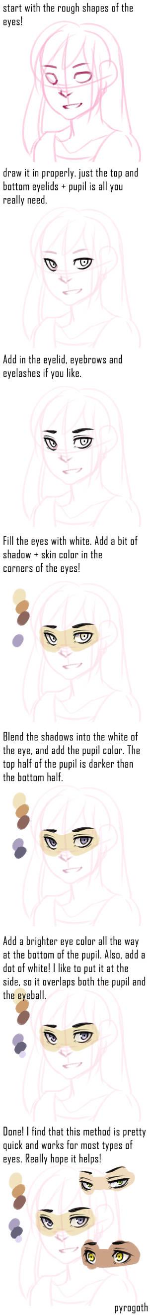 Tutorial: Super quick eye colors