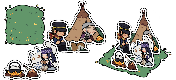 acrylic stand: golden kamuy