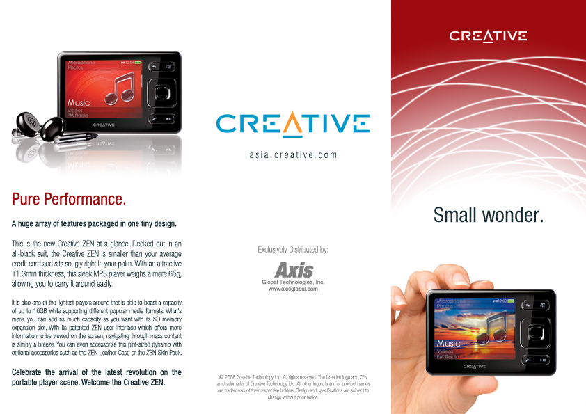 Creative Zen Brochure - Front by shanahben