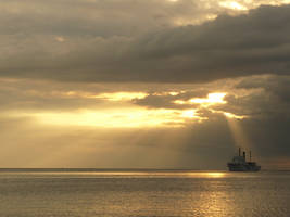 Sunset Ship 2 by shanahben