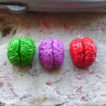 Colorful Brains Polymer Clay Charms