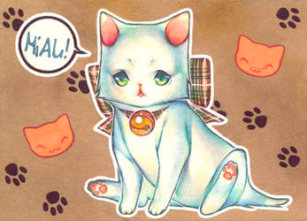 ACEO Card -Kitty- by NilooDE