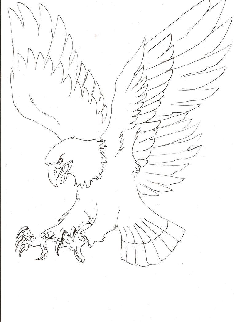 Line Art Eagle : Eagle line art by chaos br on deviantart