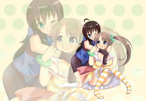 Xeno hugging Minori by Inuzakanaze