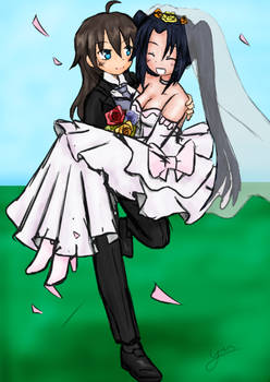 Xeno and Serefall's Wedding by Technosasquatch