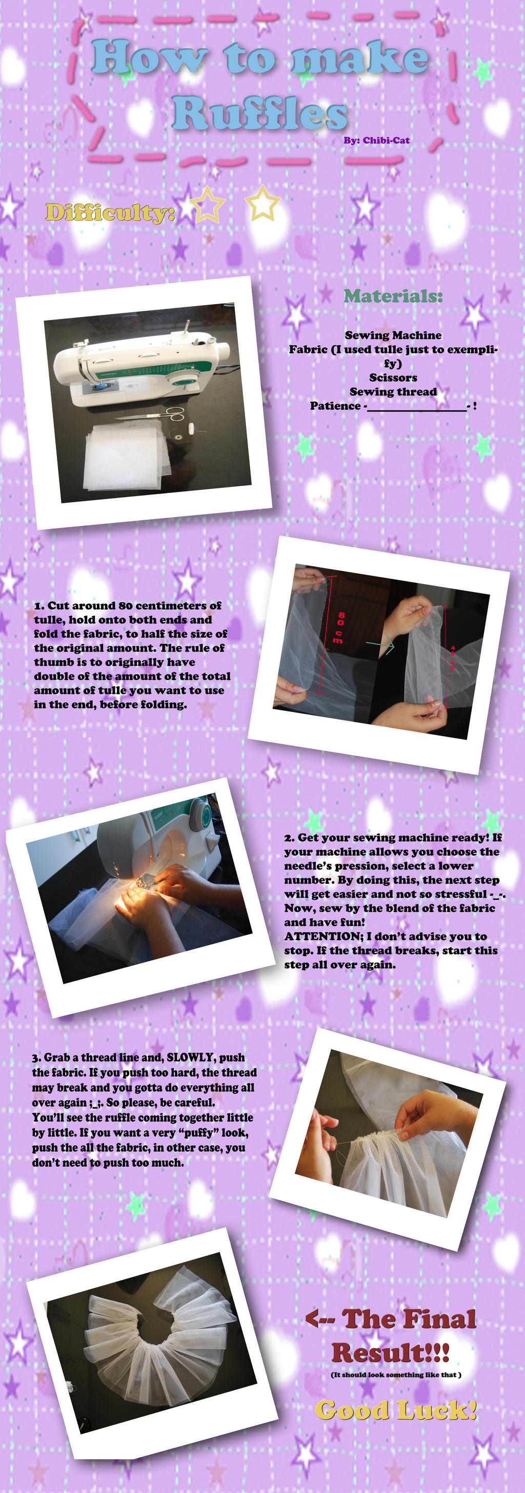 How to make ruffles