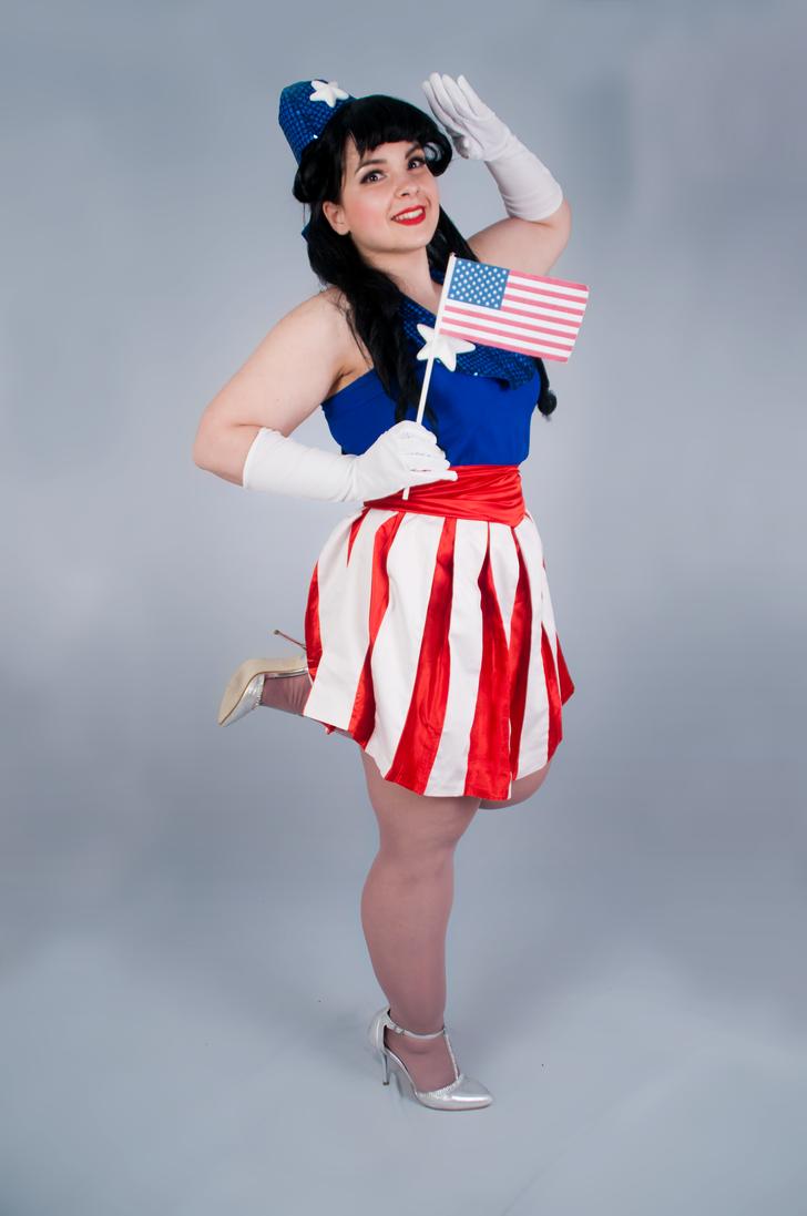 USO Girl: Captain America by Cat-sama