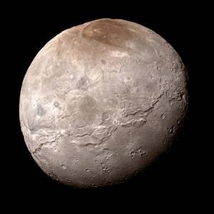 New Horizons Charon Mosaic (True-color edit)