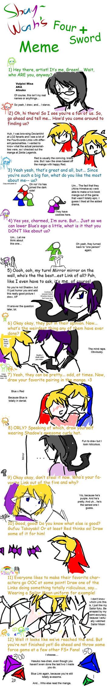 ShayWah's Four Swords+ Meme by Vulpixi-Misa