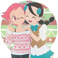 Pokemon: Merry glistenshipping Christmas by Vulpixi-Misa