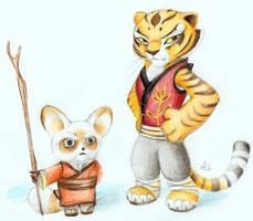 Master Shifu and Tigress by PixelRaccoon
