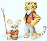 Master Shifu and Tigress